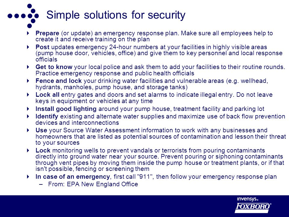 Simple solutions for security