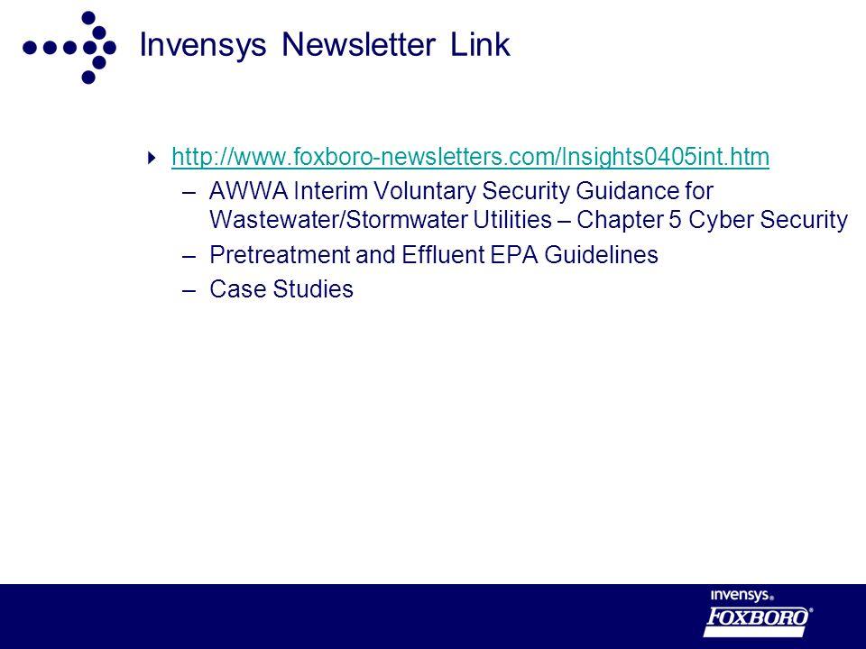 Invensys Newsletter Link