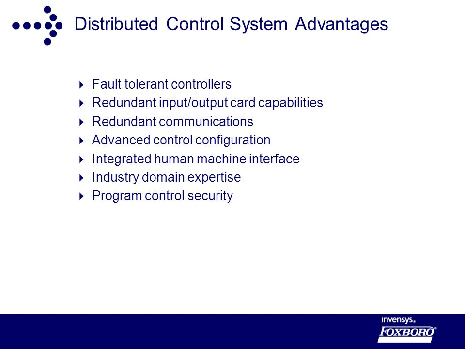 Distributed Control System Advantages