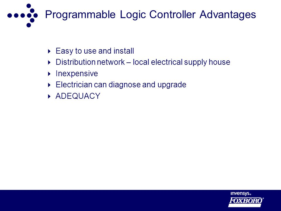 Programmable Logic Controller Advantages