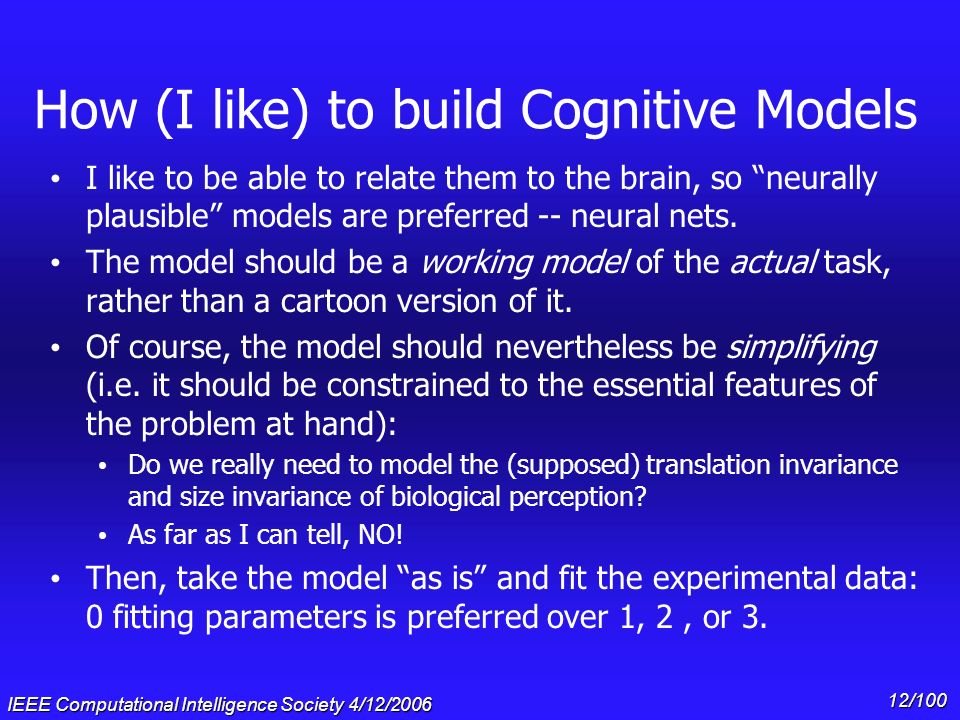 How (I like) to build Cognitive Models