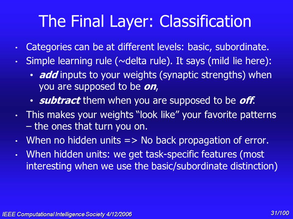 The Final Layer: Classification
