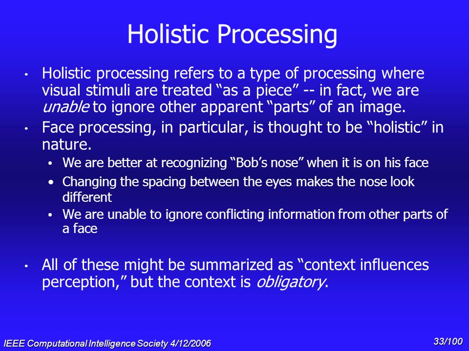 Holistic Processing