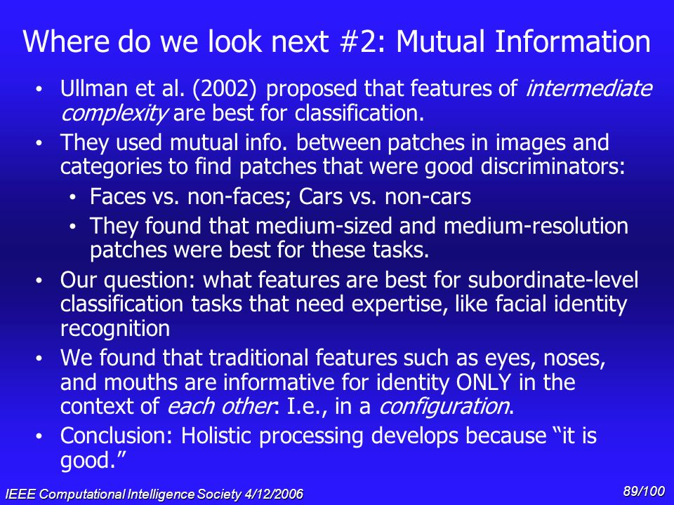 Where do we look next #2: Mutual Information