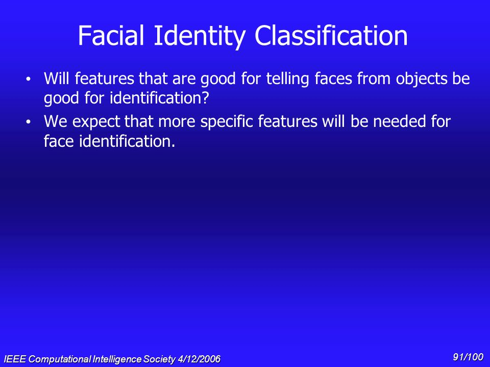Facial Identity Classification