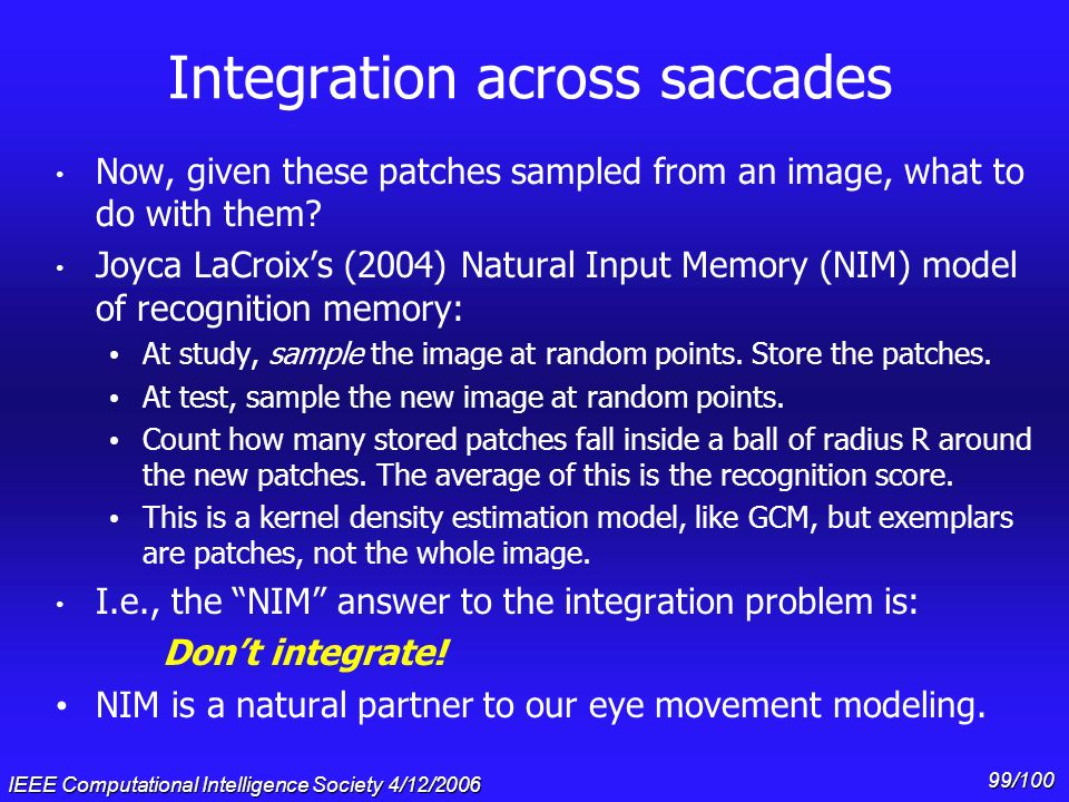 Integration across saccades