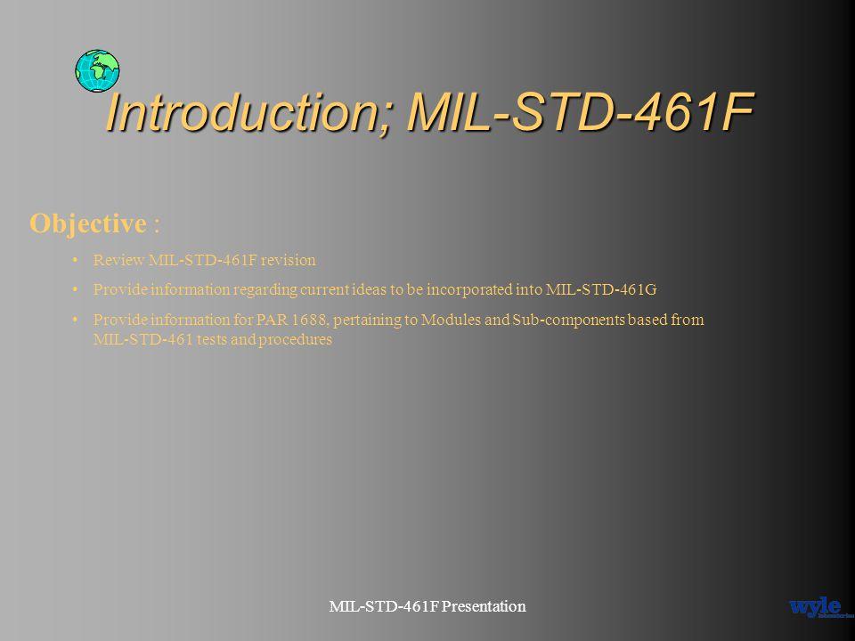 Introduction; MIL-STD-461F