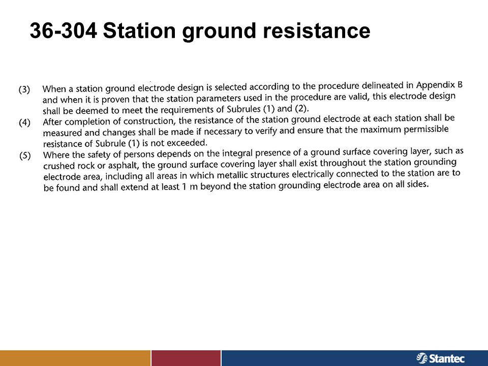 36-304 Station ground resistance