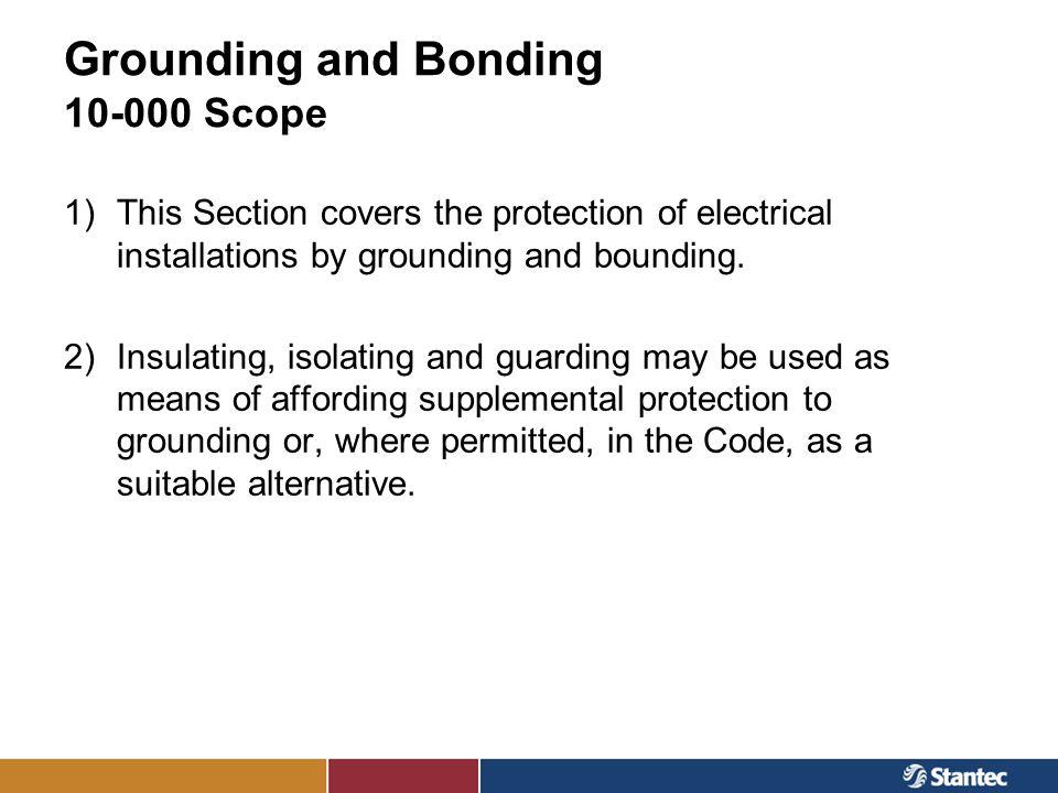Grounding and Bonding 10-000 Scope