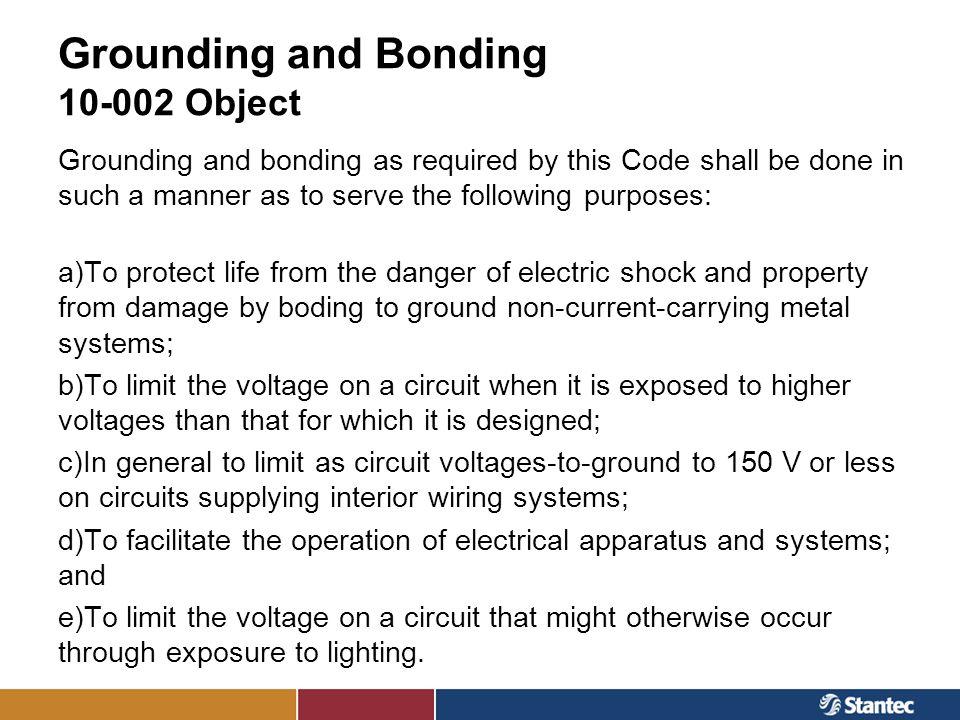 Grounding and Bonding 10-002 Object