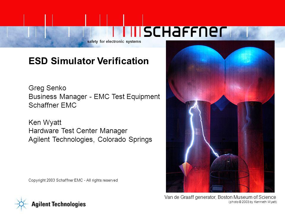ESD Simulator Verification