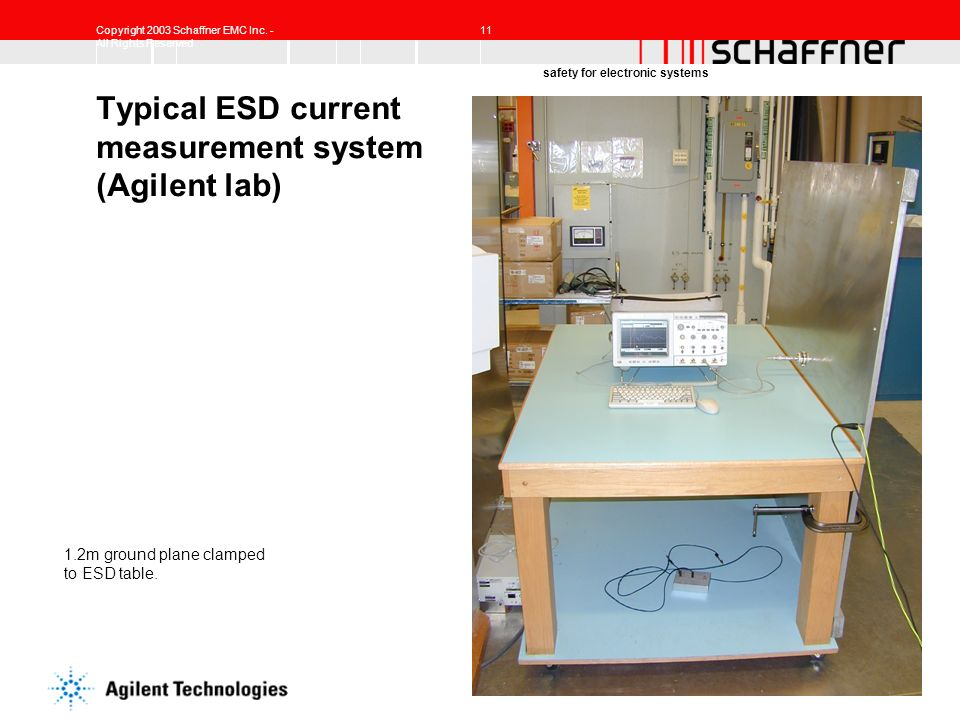 Typical ESD current measurement system (Agilent lab)