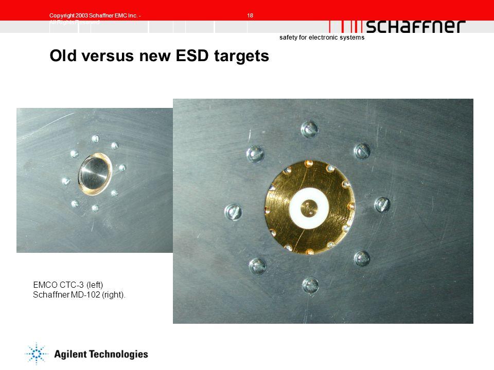 Old versus new ESD targets