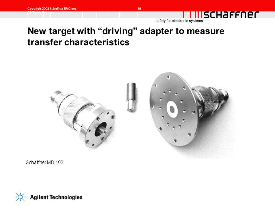 New target with driving adapter to measure transfer characteristics