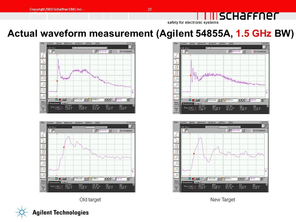 Actual waveform measurement (Agilent 54855A, 1.5 GHz BW)
