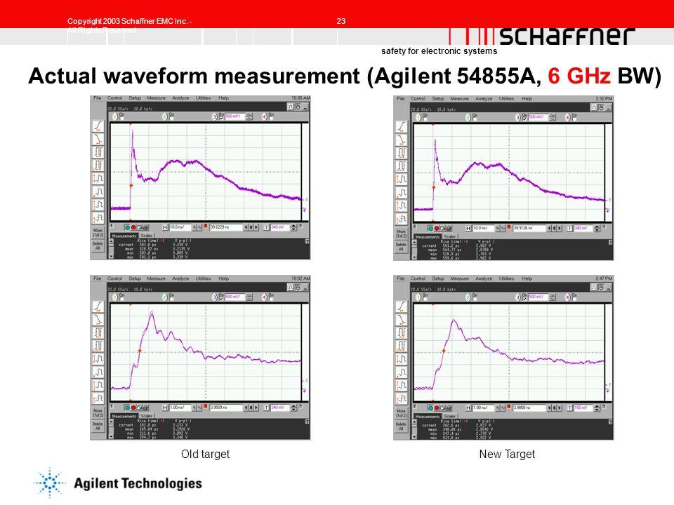 Actual waveform measurement (Agilent 54855A, 6 GHz BW)