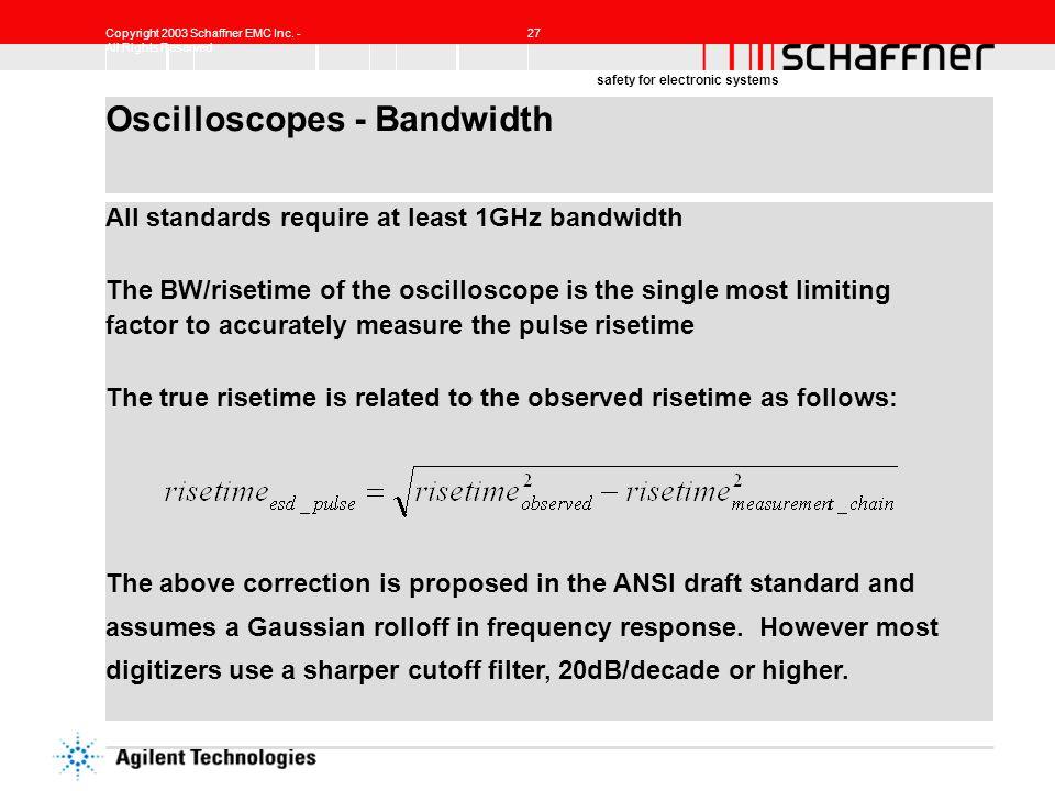 Oscilloscopes - Bandwidth