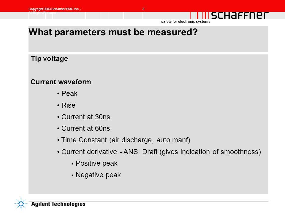 What parameters must be measured