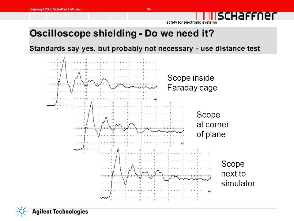 Oscilloscope shielding - Do we need it