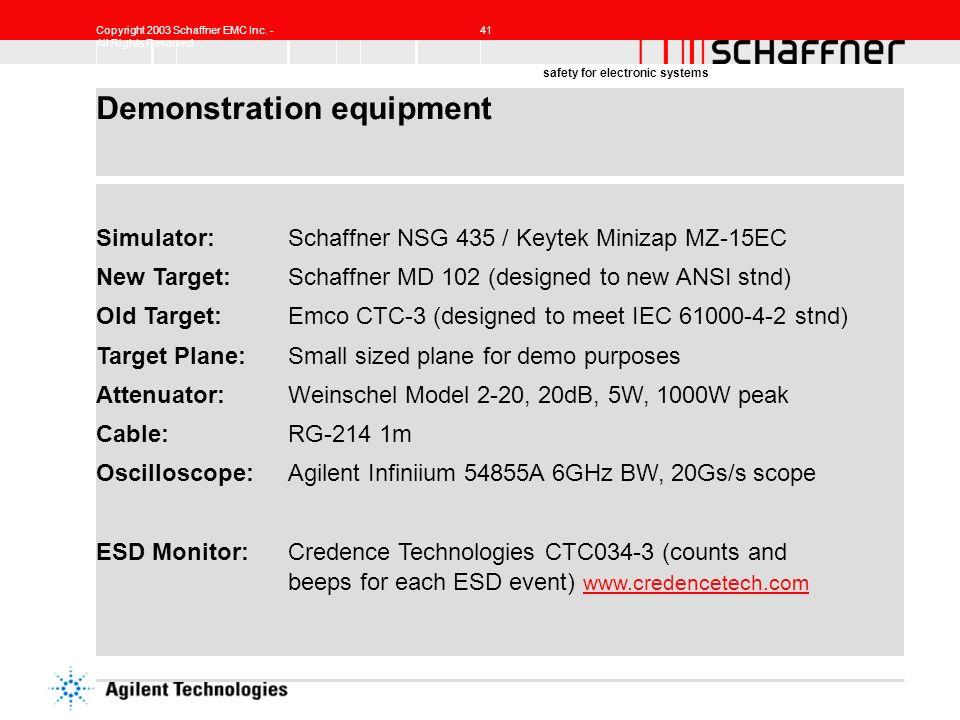 Demonstration equipment