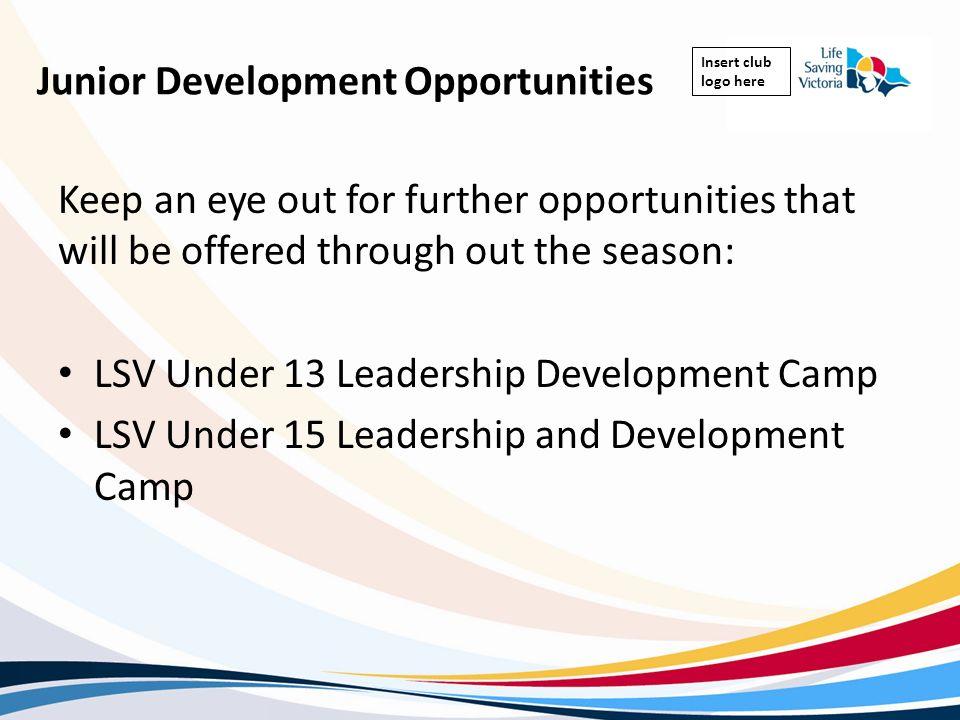 Junior Development Opportunities