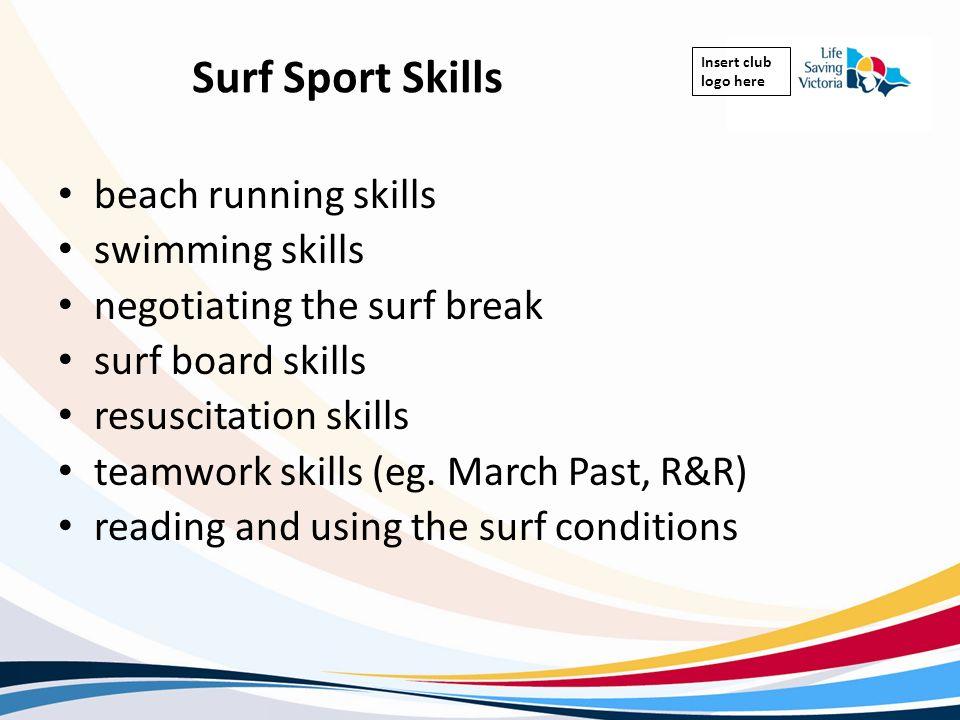 Surf Sport Skills beach running skills swimming skills