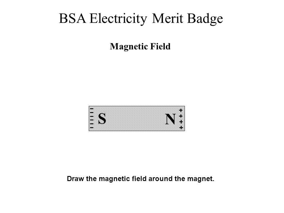 Magnetic Field S N Draw the magnetic field around the magnet.