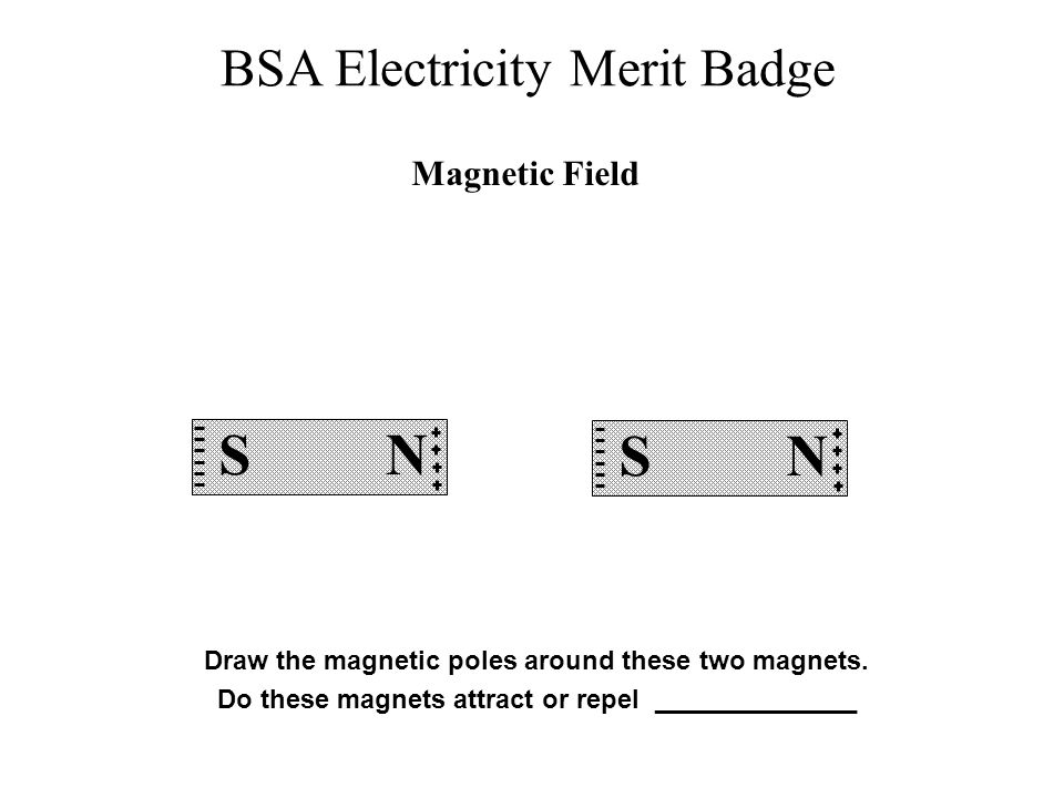 Magnetic Field S. N. S. N. Draw the magnetic poles around these two magnets.