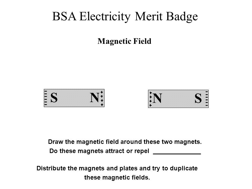 Magnetic Field S. N. S. N. Draw the magnetic field around these two magnets. Do these magnets attract or repel ______________.
