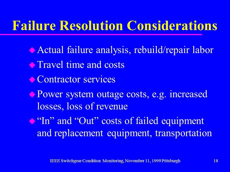 Failure Resolution Considerations