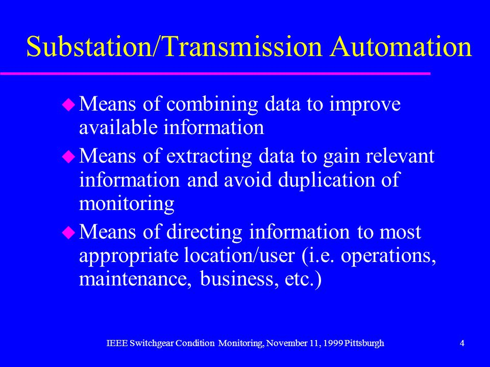Substation/Transmission Automation