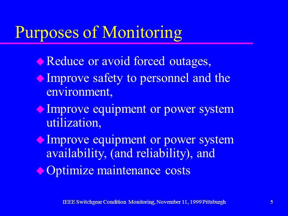 Purposes of Monitoring