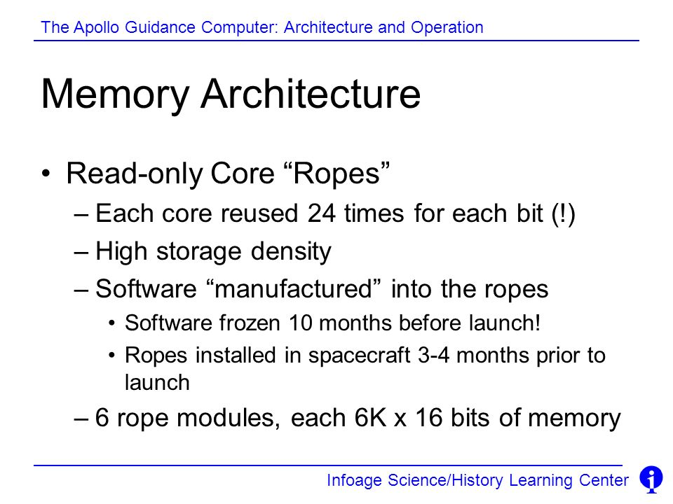 Memory Architecture Read-only Core Ropes
