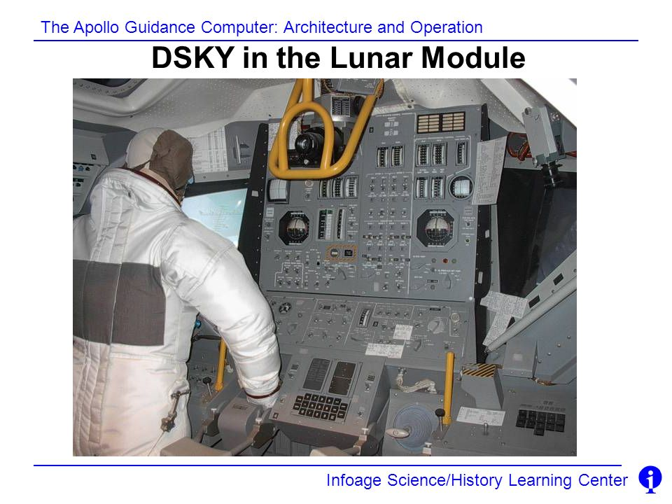 DSKY in the Lunar Module
