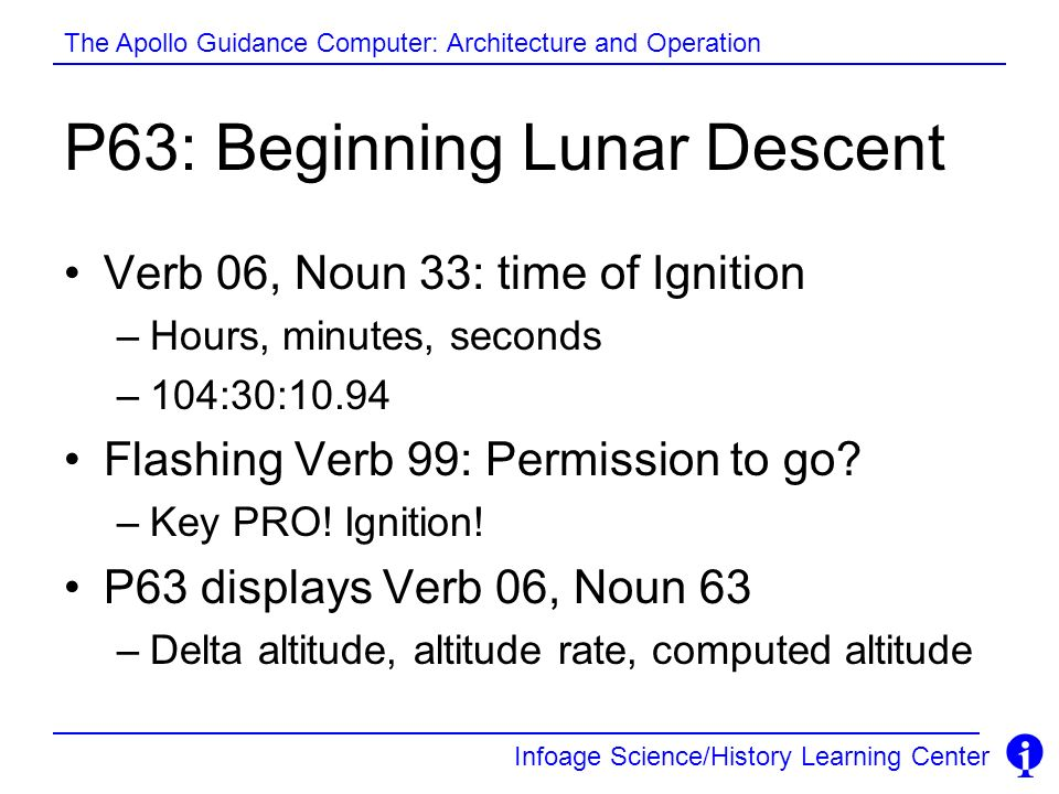 P63: Beginning Lunar Descent
