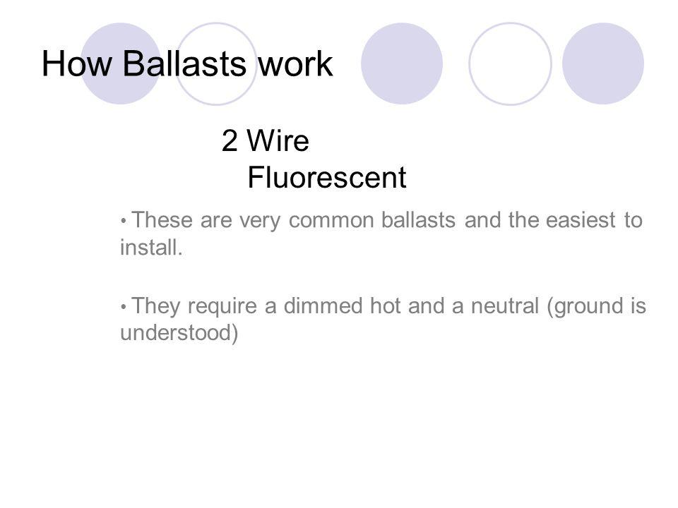 How Ballasts work 2 Wire Fluorescent