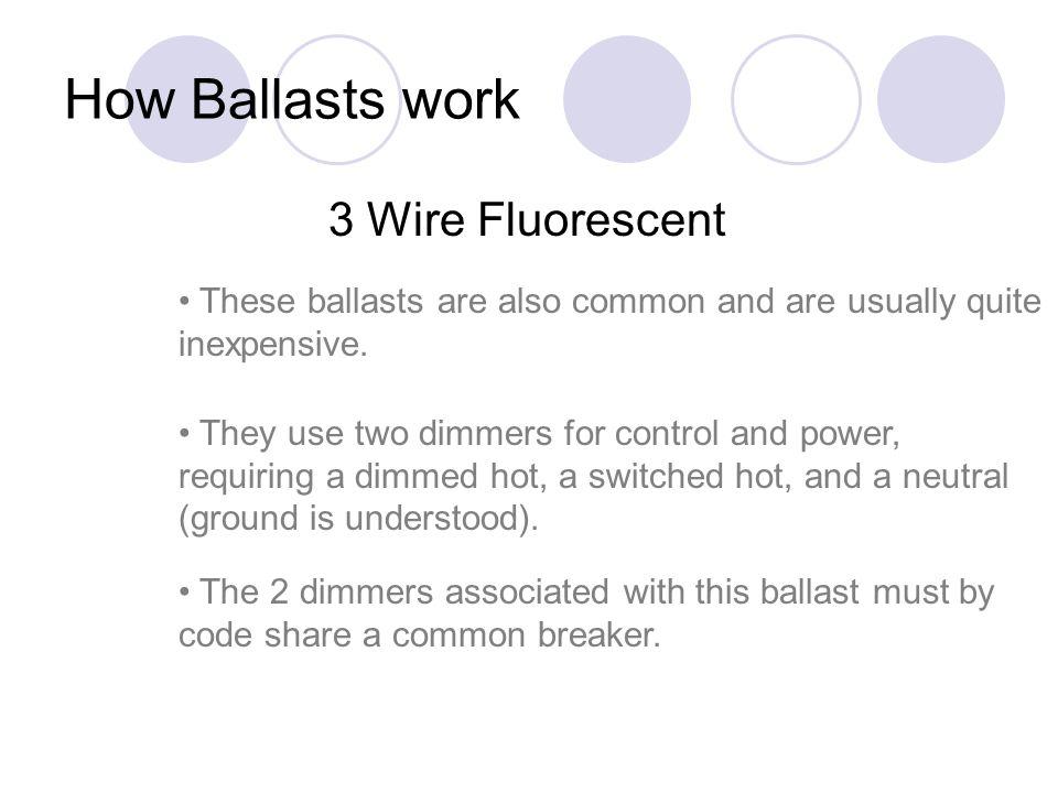 How Ballasts work 3 Wire Fluorescent