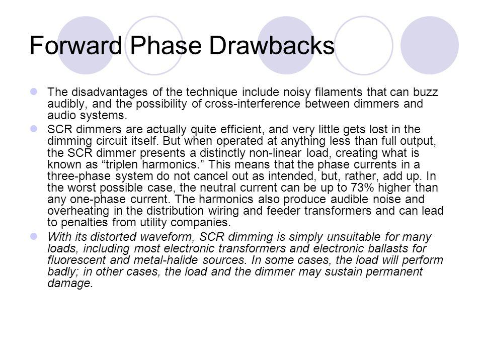 Forward Phase Drawbacks