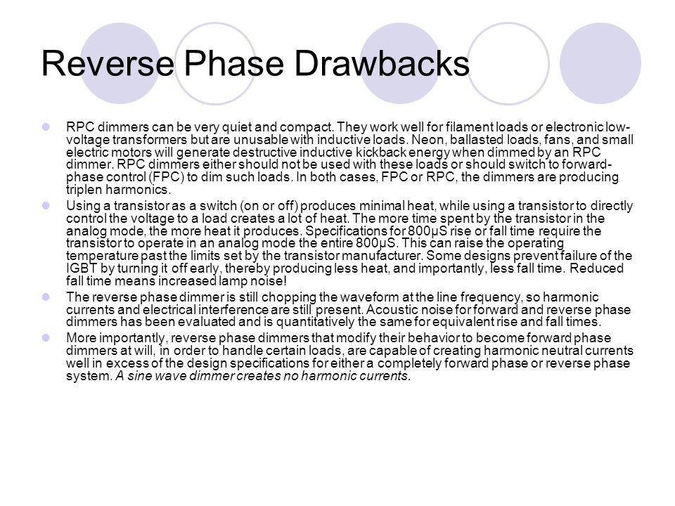 Reverse Phase Drawbacks