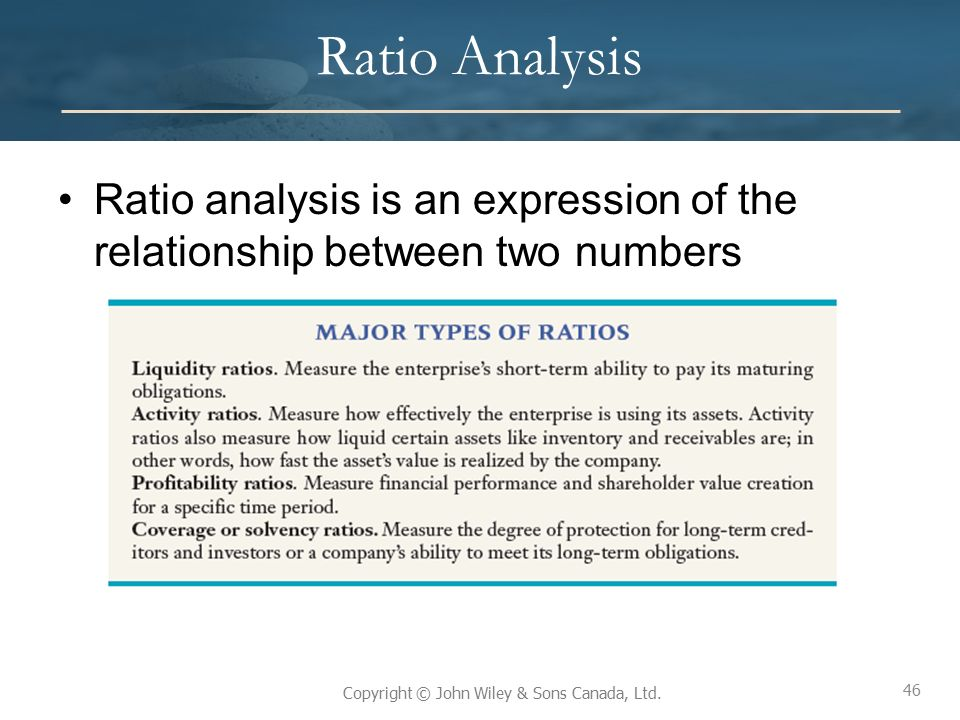 The analysis of the relationship between