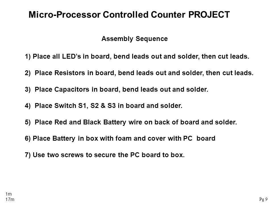Micro-Processor Controlled Counter PROJECT