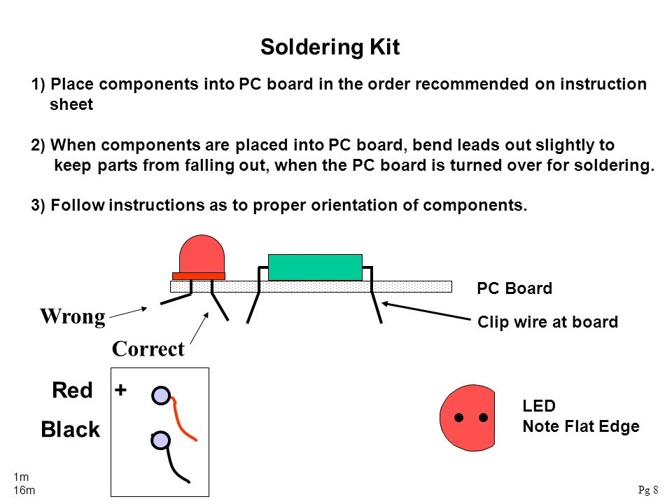 Soldering Kit Wrong Correct Red + Black