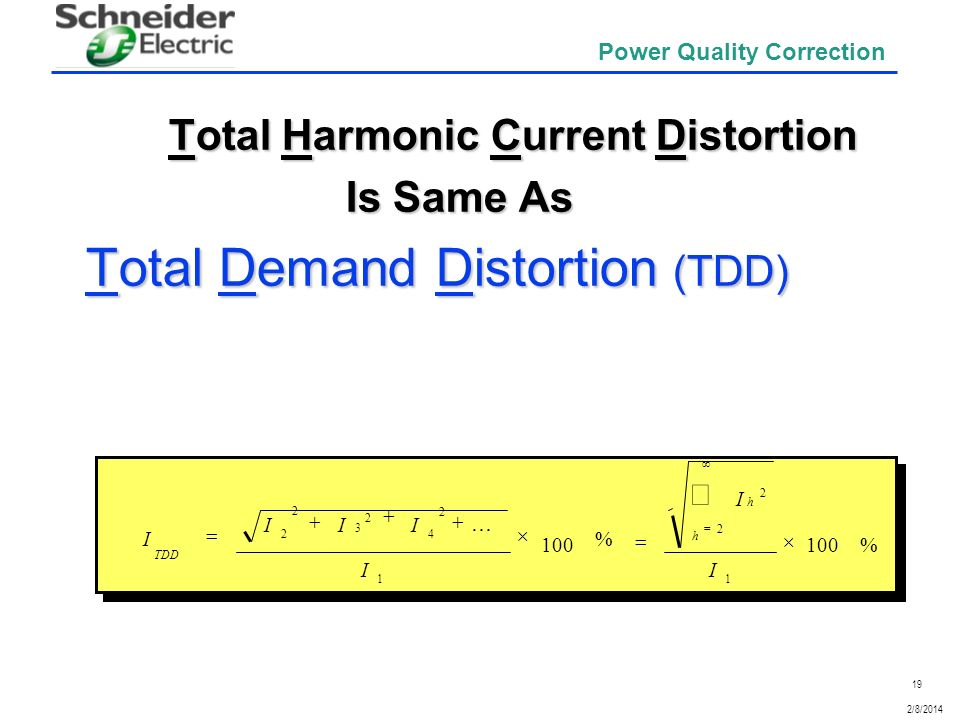 Total Harmonic Current Distortion Is Same As