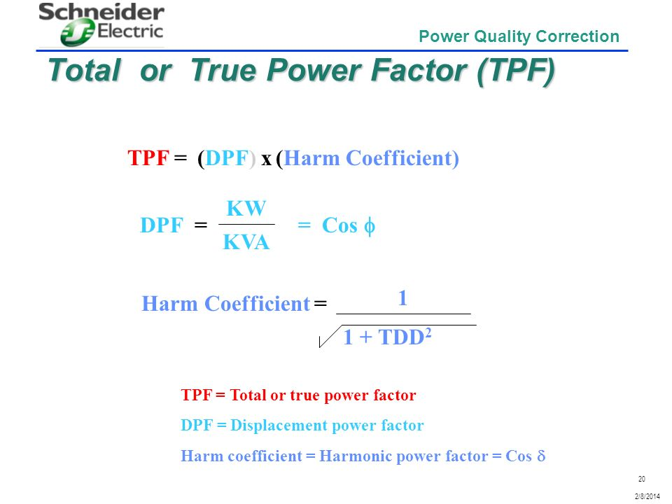 Total or True Power Factor (TPF)