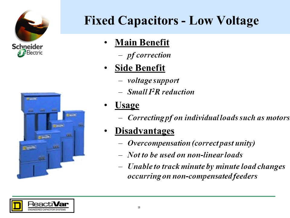 Fixed Capacitors - Low Voltage