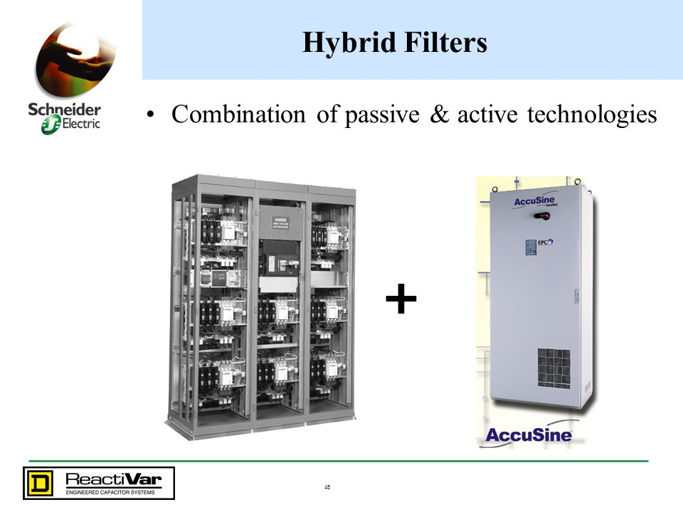 Hybrid Filters Combination of passive & active technologies +