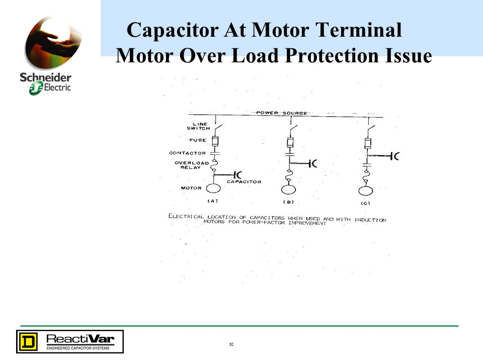 Capacitor At Motor Terminal Motor Over Load Protection Issue