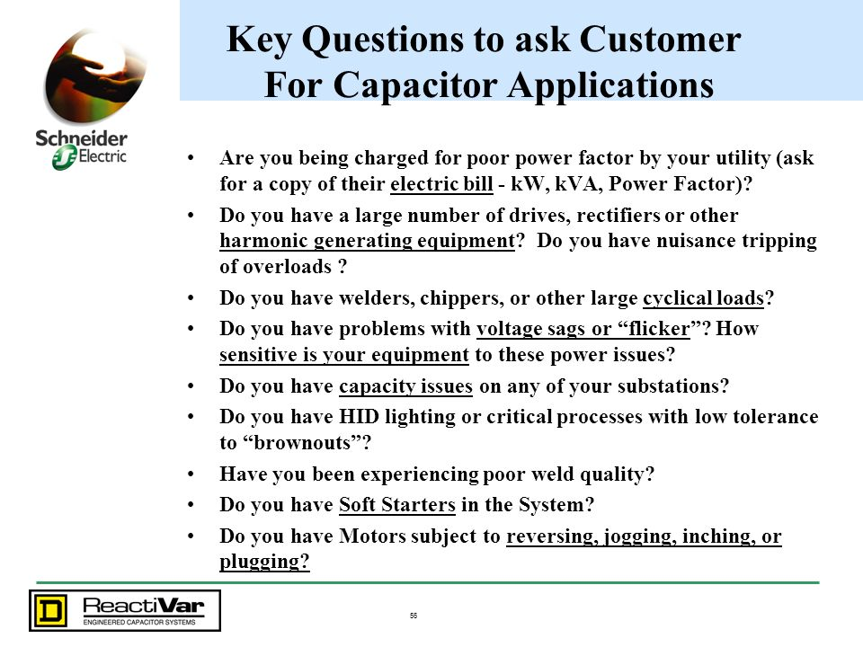 Key Questions to ask Customer For Capacitor Applications