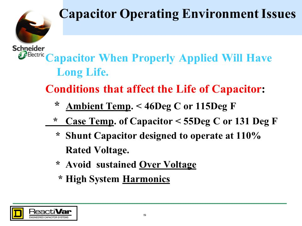Capacitor Operating Environment Issues