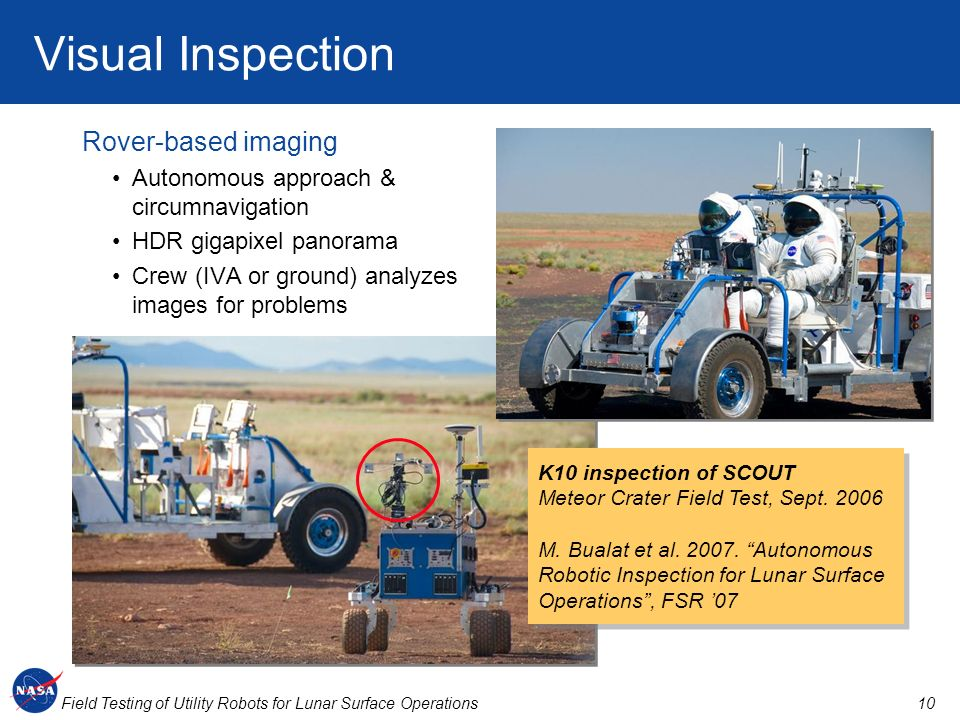 Visual Inspection Rover-based imaging